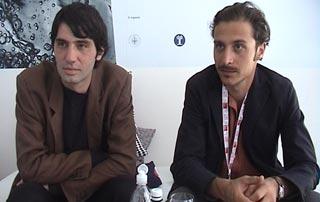 Pietro Marcello e Marcello Anselmo, regista e coautore del documentario Il passaggio della linea