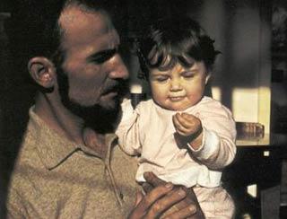 Guido Rossa con la figlia