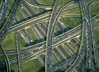 intrico di strade viste dall'alto