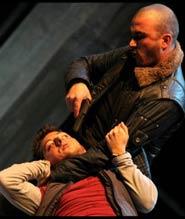Una delle scene dello spettacolo teatrale Gomorra