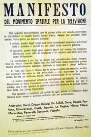Manifesto del Movimento spaziale per la televisione di Fontana