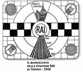 Il monoscopio della stazione RAI