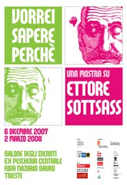 Locandina della mostra dedicata a Ettore Sottsass