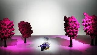 Una scena dell'Iris progettata da Pier Paolo Bisleri