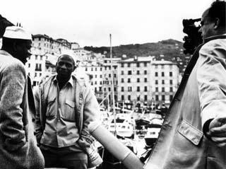 Jean Rouche durante le riprese di un documentario
