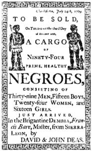 Negroes to be sold