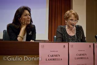 Carmen Lasorella alla presentazione del suo ultimo libro