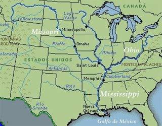 Percorso del fiume Mississippi