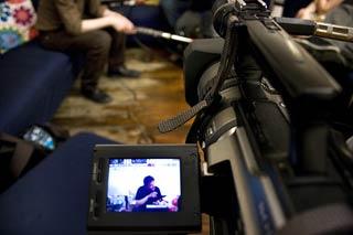 Il regista Audrius Stonys, intervistao per Fucine Mute al Nododoc Festival Internazionale del documentario