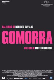 Locandina del film Gomorra di Matteo Garrone tratto dal besteseller di Saviano