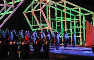 Allestimaneto del Nabucco all'Arena di Verona nella stagione 2008