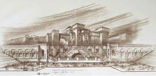 Bozzetto di scene per Il Rigoletto di Giuseppe Verdi andato in scena all arena di Verona
