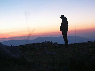 Tedeschi su un monte al tramonto
