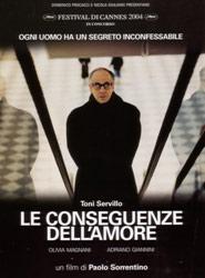 Locandina del film Le conseguenze dell'amore di Paolo Sorrentino