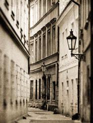 Foto di una via di Praga