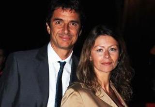 Amanda Sandrelli con il marito Blas Roca Rey