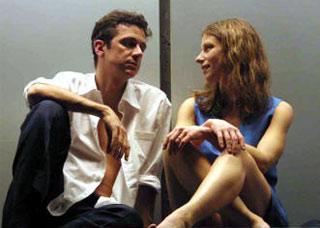 Amanda Sandrelli e Blas Roca Rey, interpreti dello spettacolo teatrale Xanax