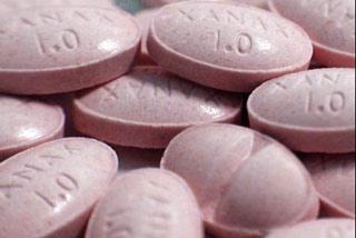 pillole di Xanax, psicofarmaco ansiolitico e tranquillante