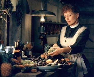 Babette scena tratta dal film Il pranzo di Babette di Gabriel Axel 1987