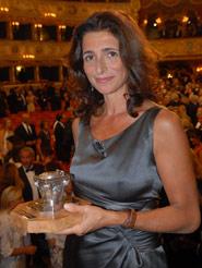 Benedetta Cibrario con il Premio Campiello 2008