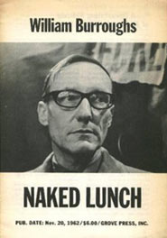 copertina di Naked Lunch di William Seward Burroughs