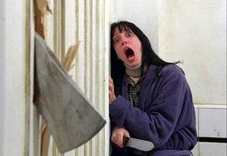 La scena con l'ascia in Shining di Stanley Kubrick