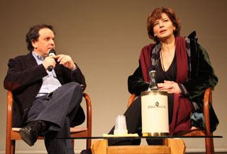 Laura Morante assieme a Magrelli