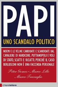 Copertina dell' istant book Papi, uno scandalo politico di Marco Travaglio