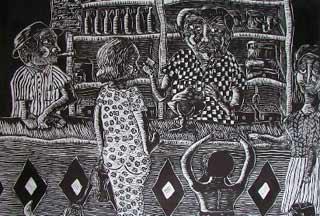 En La Bodega, quadro di Luis Lamothe