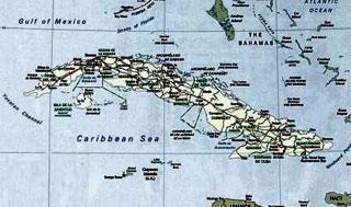 cartina di Cuba