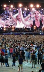 Attesa al concerto di Bruce Springsteen