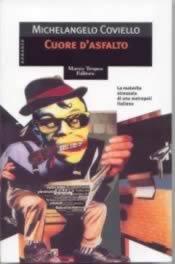La caricatura di Coviello sulla copertina del suo romanzo