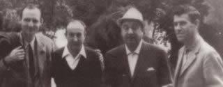 Juan Octavio Prenz e Pablo Neruda (al centro dell'immagine)