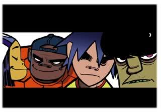 Gorillaz: musica e web media — clicca per vedere le animazioni digitali sul sito della band