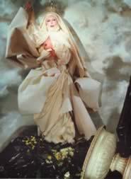 Madonna Bianca n.10 studio particolareggiato sul drappeggio e il barocco — Orlan