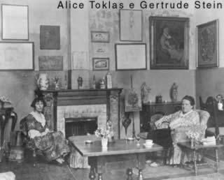 Alice Toklas e Gertrude Stein nel salotto di rue de Fleurus