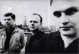 La formazione originale dei Death In June: da sinistra Douglas Pearce, Tony Wakeford, Patrick Legas