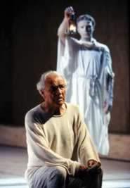Giorgio Albertazzi in Giulio Cesare di Shakespeare per Giorgio Albertazzi