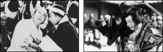 Cinema muto giapponese:da sinistra, Matsunosuke no Chushingura (1910-1917) e Orochi (1925)