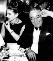 Maria Callas e Aristotele Onassis, immagine tratta dal libro Giovane Callas di Bruno Tosi