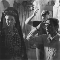 Maria Callas con Pier Paolo Pasolini, durante la lavorazione del film Medea