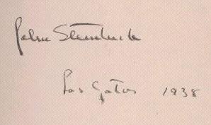 Autografo di Steinbeck a Los Gatos