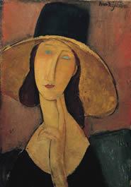 Ritratto di Jeanne Hébuterne con grande cappello