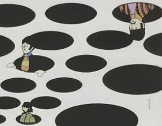 Sequenza Sea of holes dal film d'animazione Yellow Submarine
