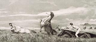 Max Klinger, Centauro inseguito, 1881, acquaforte