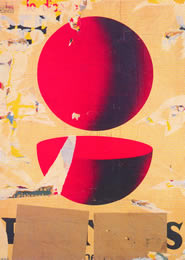 Mimmo Rotella. Il punto e mezzo, 1962