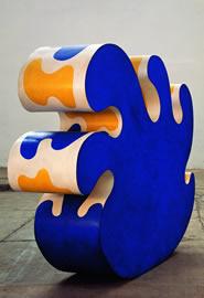 Gianni Ruffi Mare a Dondolo, 1967 acrilici su legno cm 170x220x50