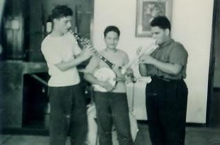 Lauzi con Luigi Tenco al clarino e Giorgio Pergolo alla tromba