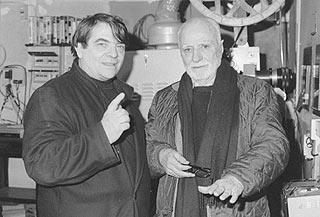 Silvano Agosti con Mario Monicelli