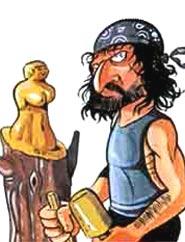 Mauro Corona disegnato da Paolo Cossi